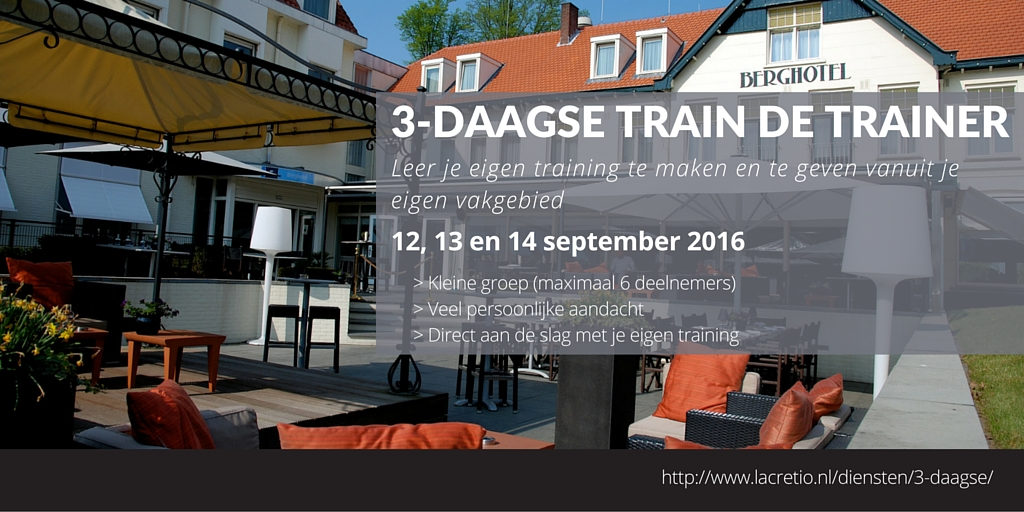 3-daagse Train de Trainer